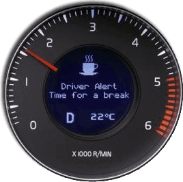 Volvo's tiredness warning system