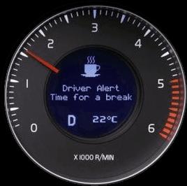 Volvo's tiredness warning system