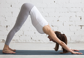 Yoga: Downward Facing Dog Pose.
