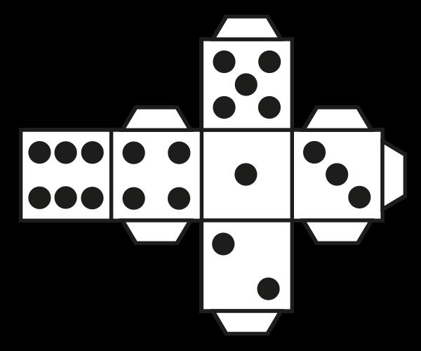 Cube Net - Dice example.