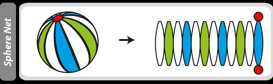 Net of a sphere.