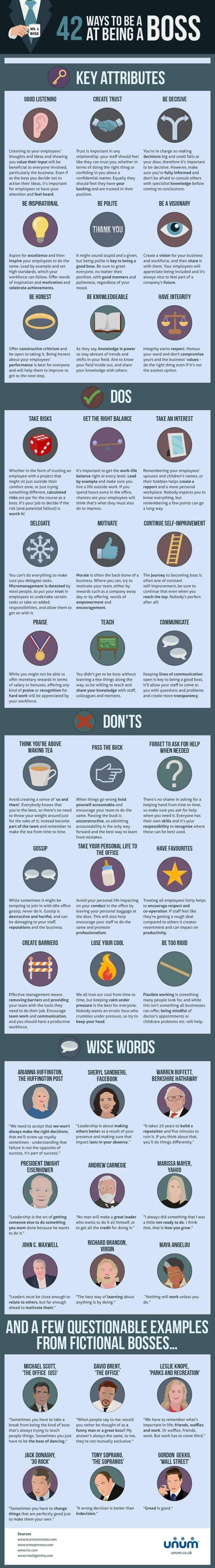 42 Ways to be a Boss - Infographic