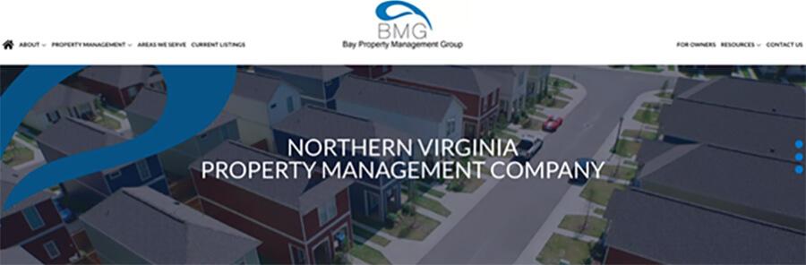 Bay Property Management Group webpage screenshot.