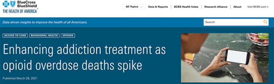 BlueCross BlueShield website screenshot.