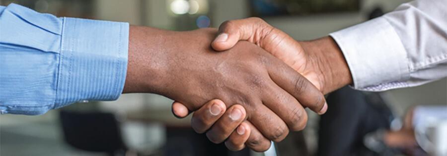Handshake - customer service.