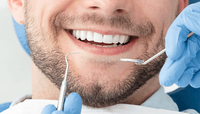 Man at the dentists