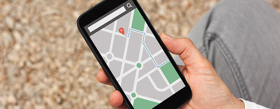 Directions on a smartphone.