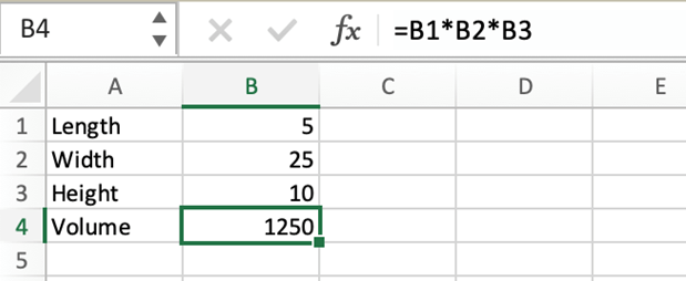 Excel formula example.