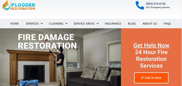 iFlooded Restoration website screenshot.