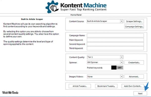 Kontent Machine screenshot.