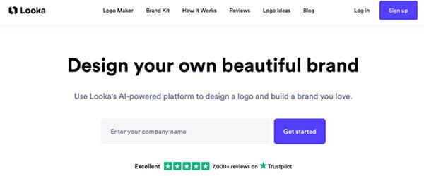 Looka website screenshot.