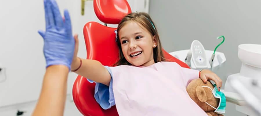 Child visiting the dentist.