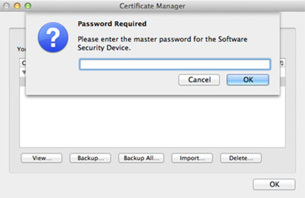 Apple screenshot of 'Password Required' window.