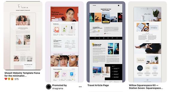 Pintrest screenshot of Simple Web-Design Layout