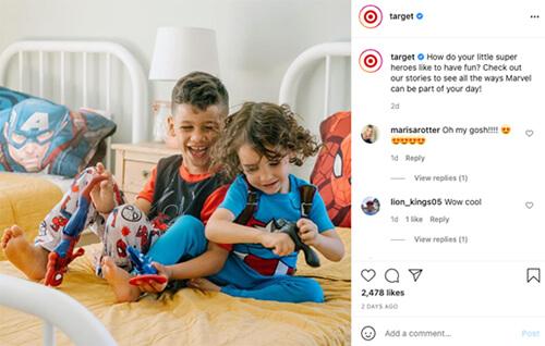 Target Instagram screenshot.