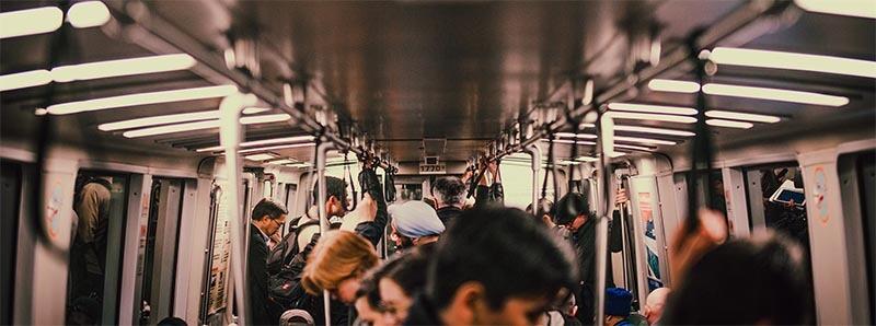 Tube commute.